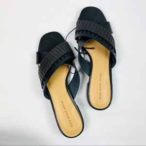 Who What Wear | NWOT Black Peep Toe Sandals
